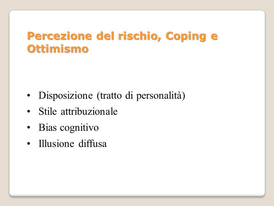 Percezione del rischio, Coping e Ottimismo