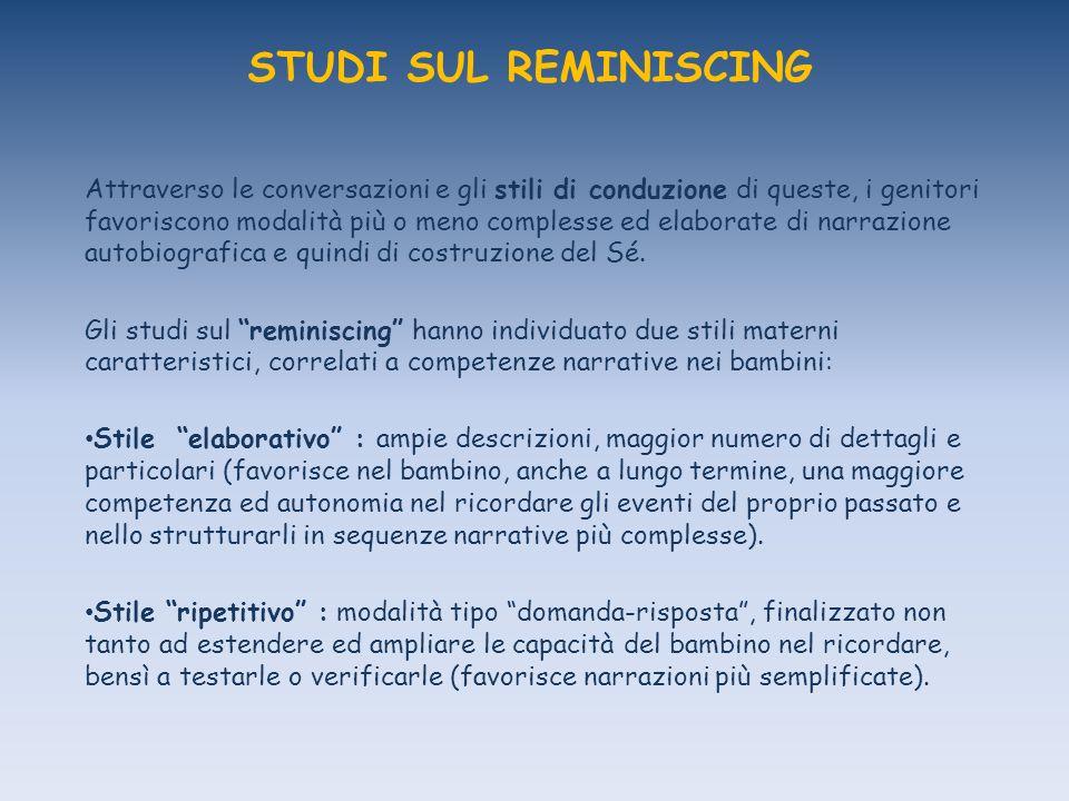 STUDI SUL REMINISCING