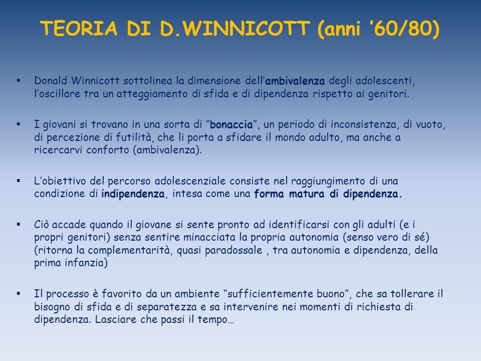 TEORIA DI D.WINNICOTT (anni '60/80)