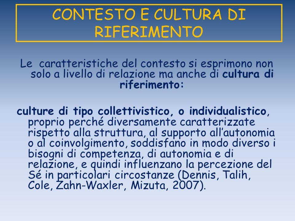 CONTESTO E CULTURA DI RIFERIMENTO