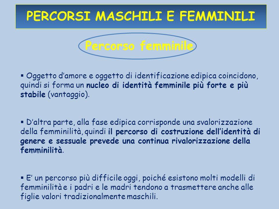 percorsi maschili e femminili