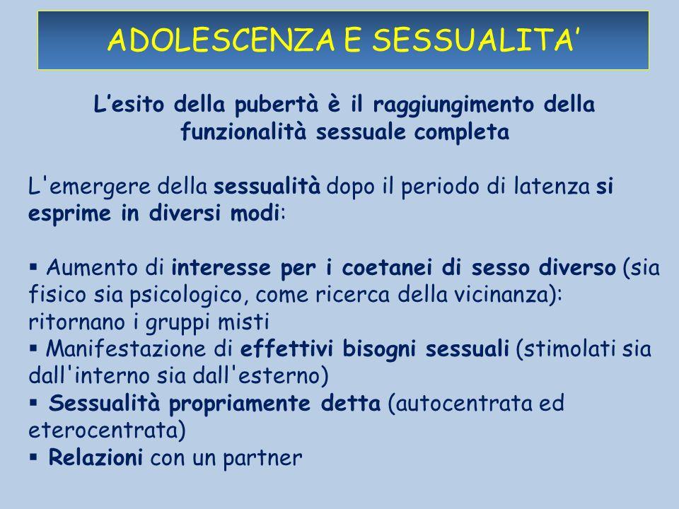 adolescenza e sessualita'