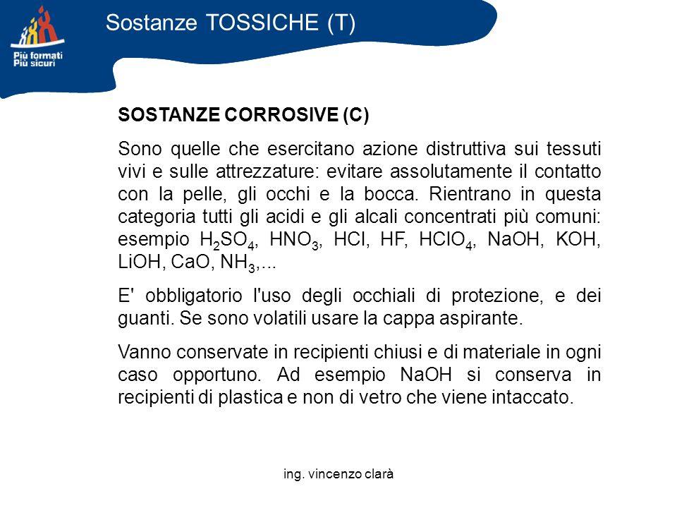 Sostanze TOSSICHE (T) SOSTANZE CORROSIVE (C)