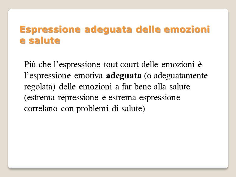 Espressione adeguata delle emozioni e salute