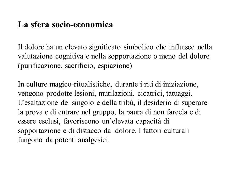 La sfera socio-economica