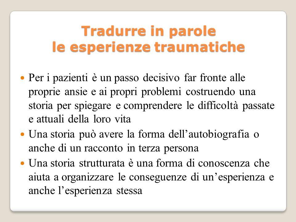 Tradurre in parole le esperienze traumatiche