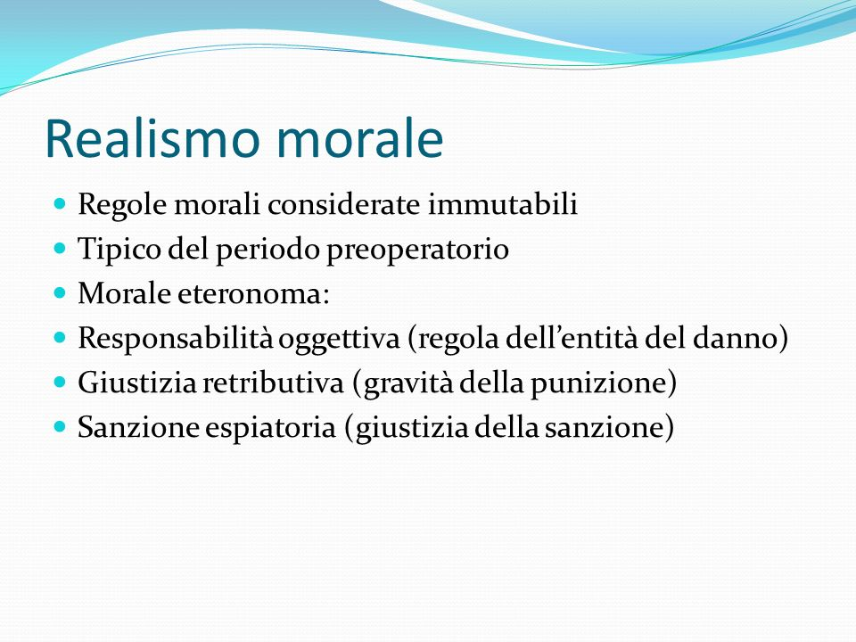Realismo morale Regole morali considerate immutabili