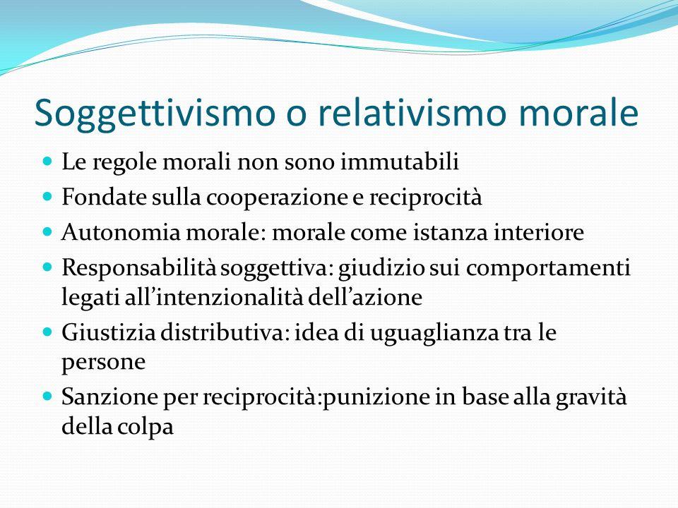 Soggettivismo o relativismo morale