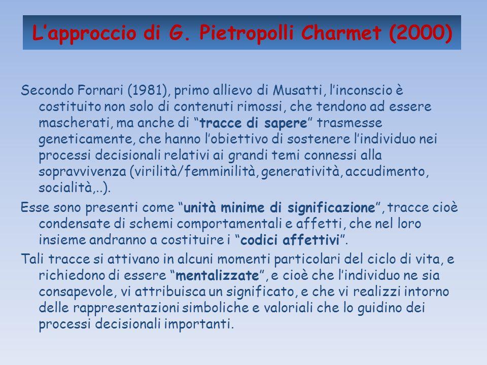 L'approccio di G. Pietropolli Charmet (2000)