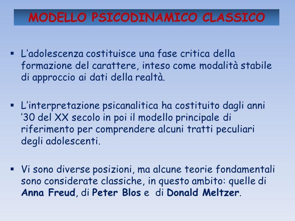 MODELLO PSICODINAMICO CLASSICO