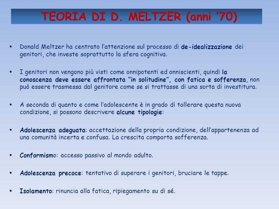 TEORIA DI D. MELTZER (anni '70)