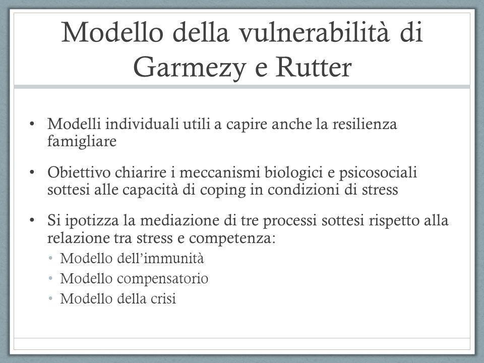 Modello della vulnerabilità di Garmezy e Rutter