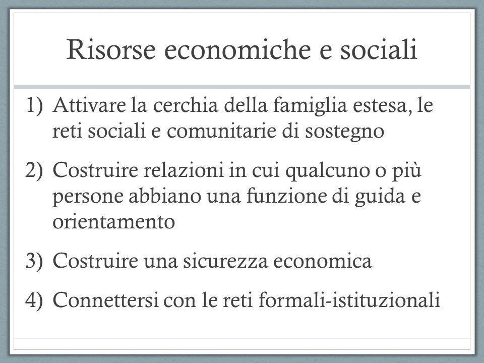 Risorse economiche e sociali