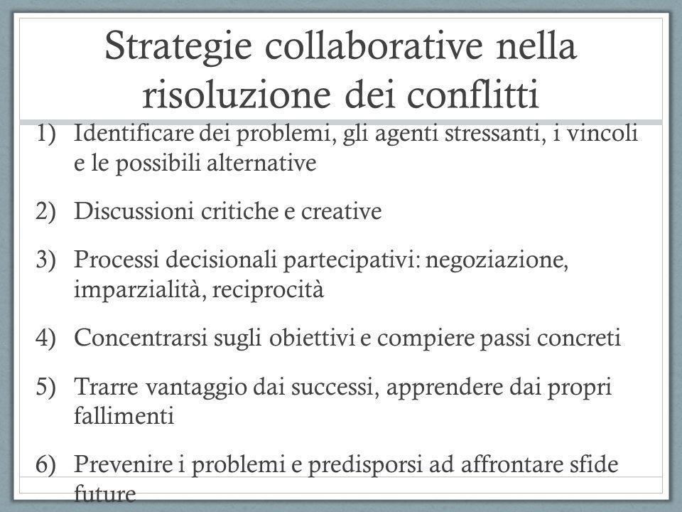Strategie collaborative nella risoluzione dei conflitti