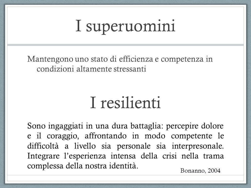 I superuomini I resilienti