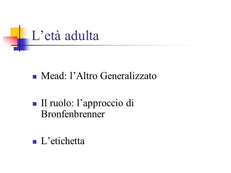 L'età adulta Mead: l'Altro Generalizzato