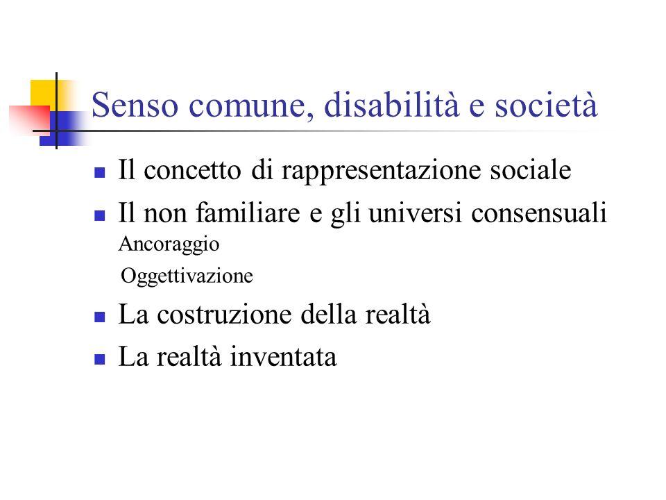 Senso comune, disabilità e società