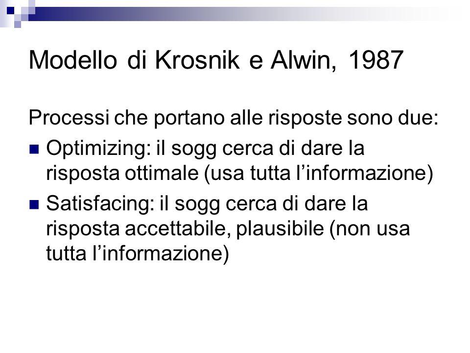 Modello di Krosnik e Alwin, 1987