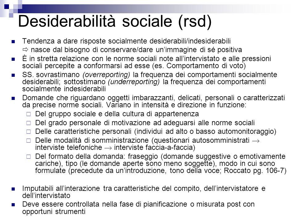 Desiderabilità sociale (rsd)