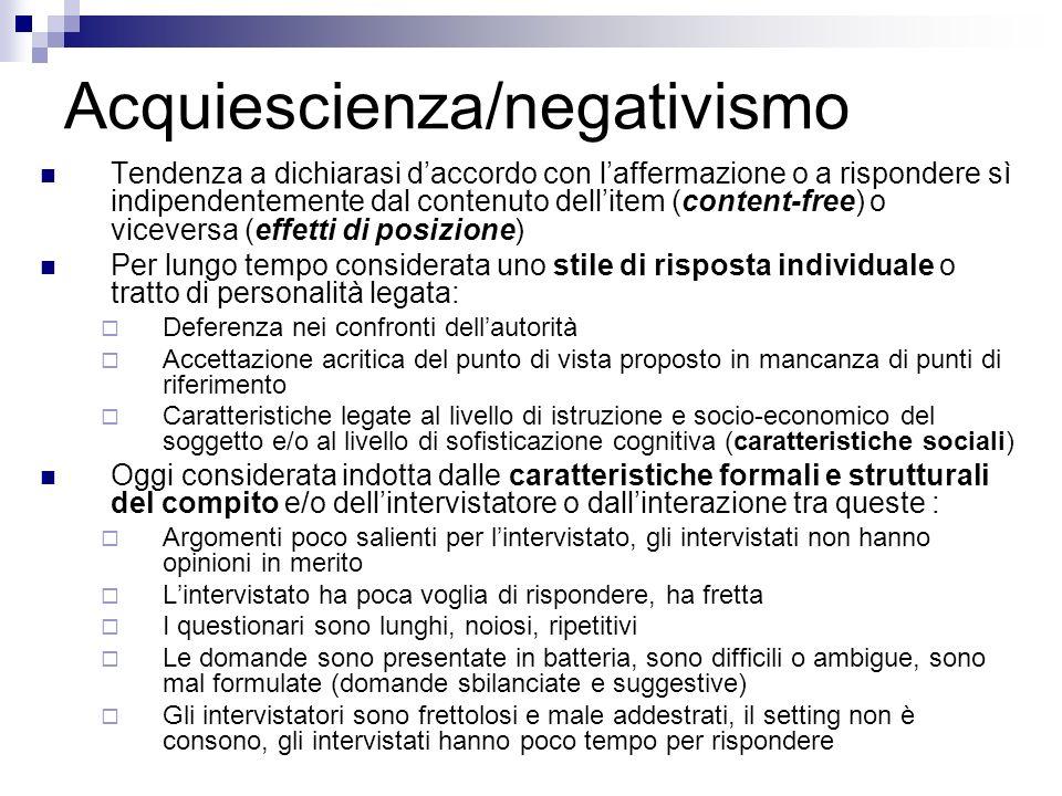Acquiescienza/negativismo