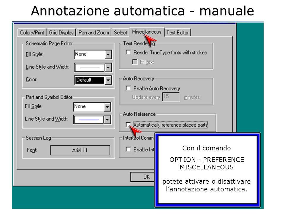 Annotazione automatica - manuale
