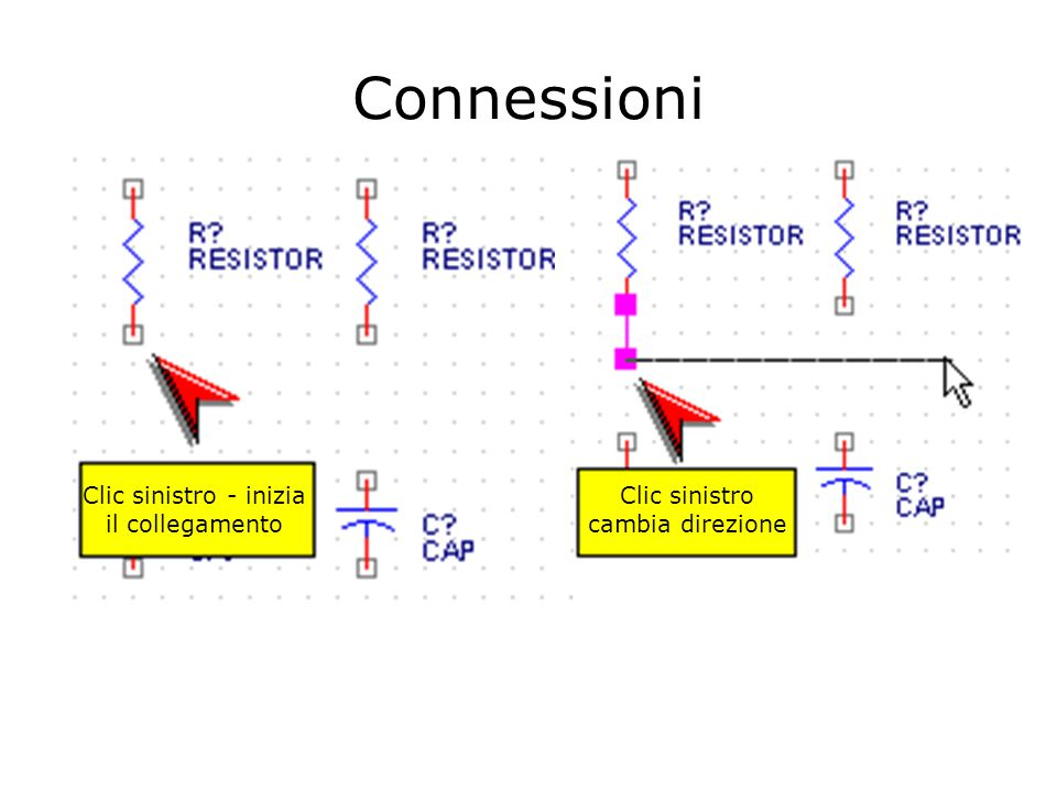 Connessioni Clic sinistro - inizia il collegamento