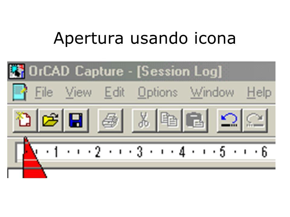 Apertura usando icona
