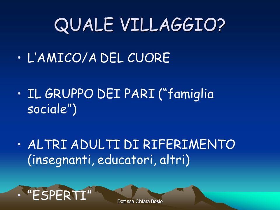 QUALE VILLAGGIO L'AMICO/A DEL CUORE