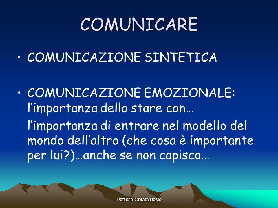 COMUNICARE COMUNICAZIONE SINTETICA