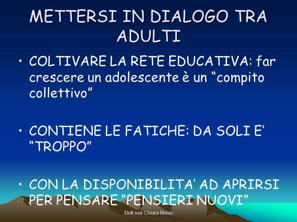 METTERSI IN DIALOGO TRA ADULTI