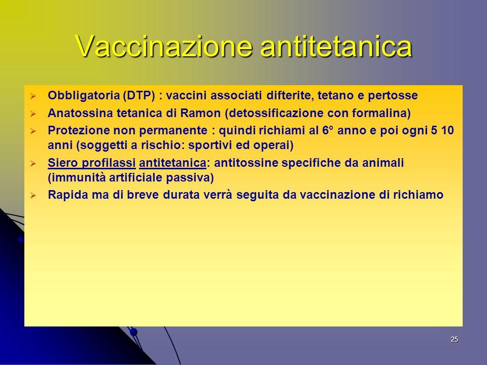 Vaccinazione antitetanica