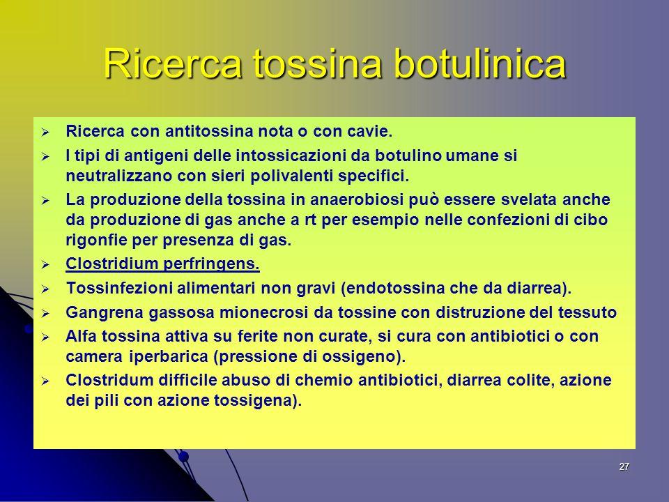 Ricerca tossina botulinica