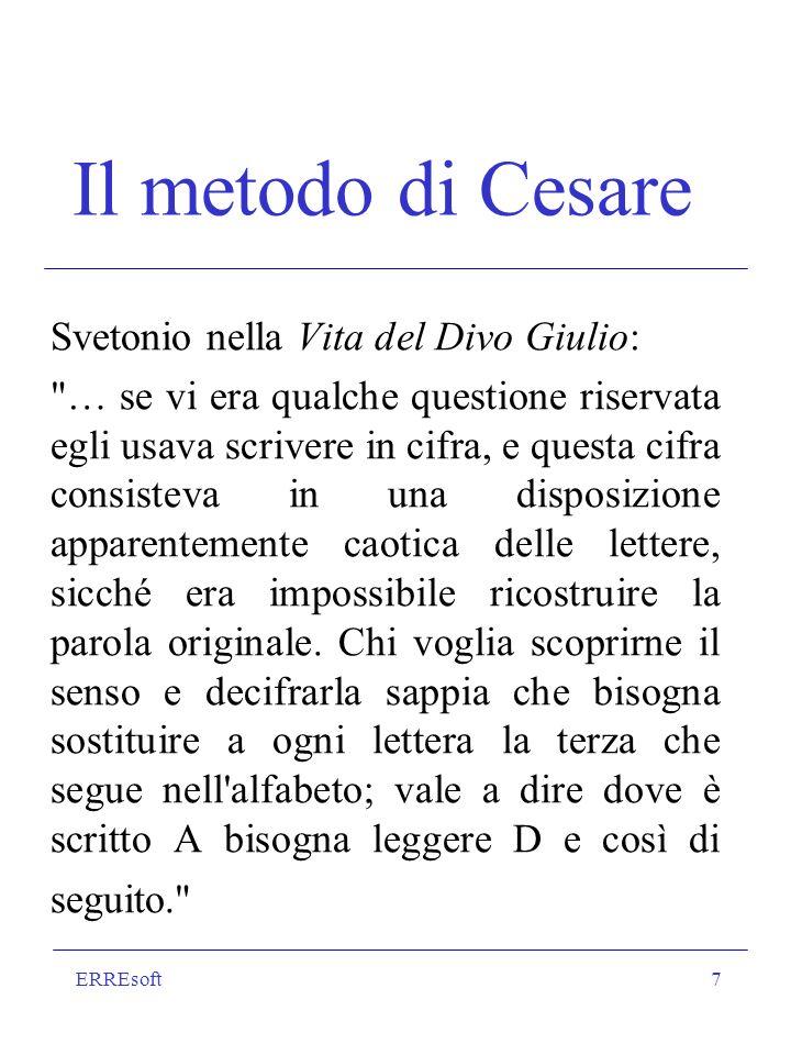 Il metodo di Cesare Svetonio nella Vita del Divo Giulio: