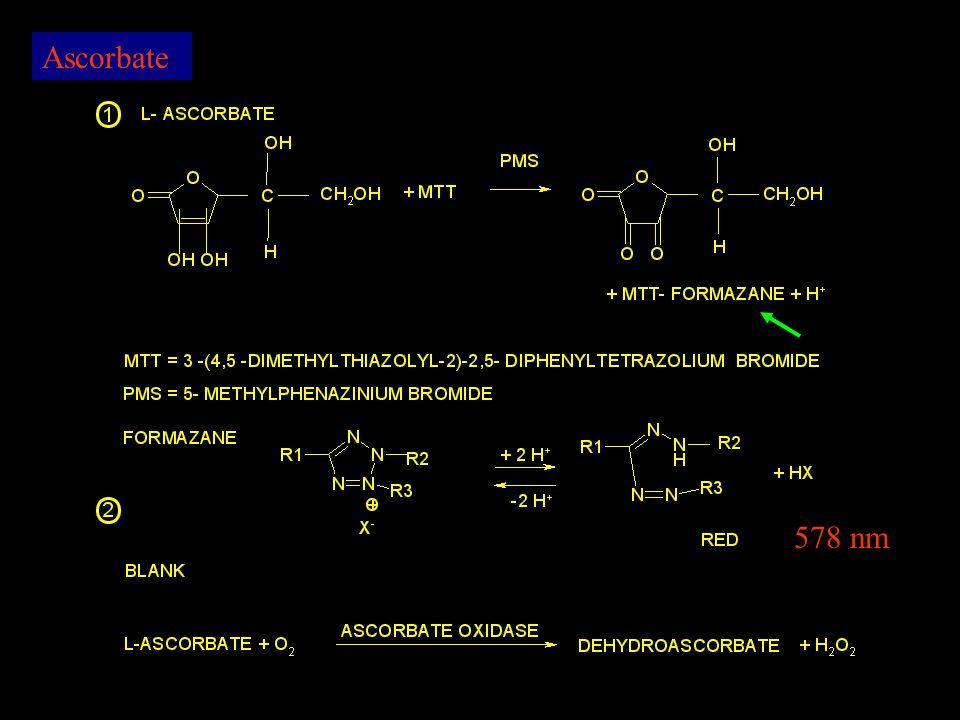 Ascorbate 578 nm