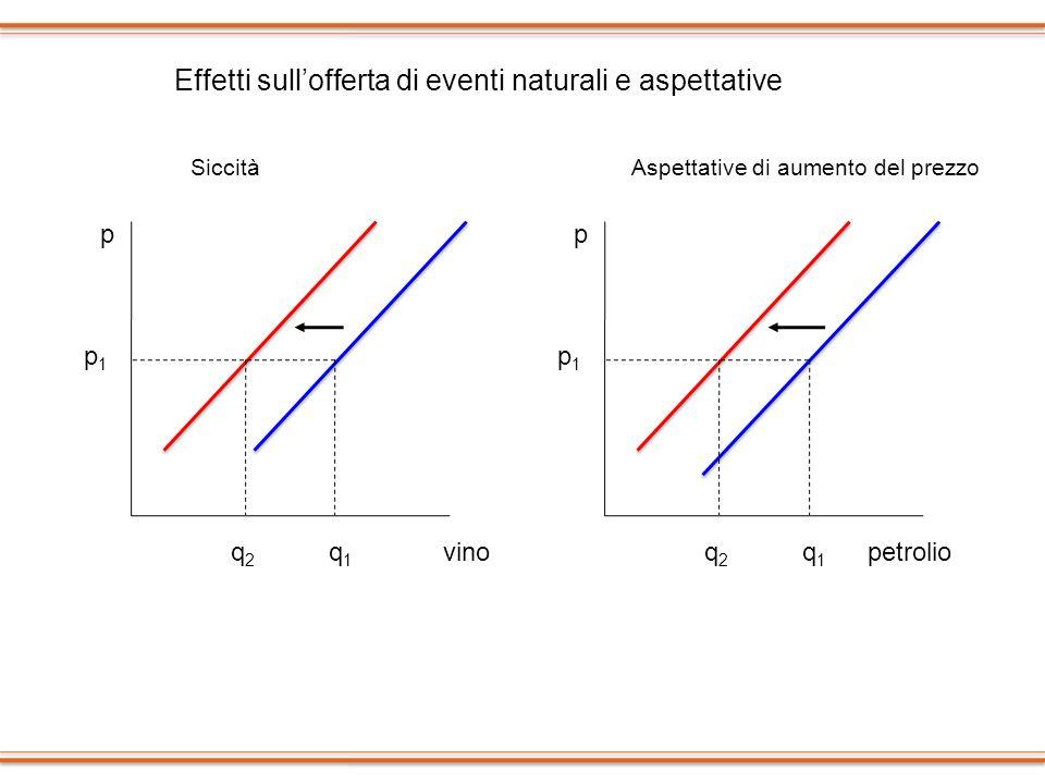 Effetti sull'offerta di eventi naturali e aspettative