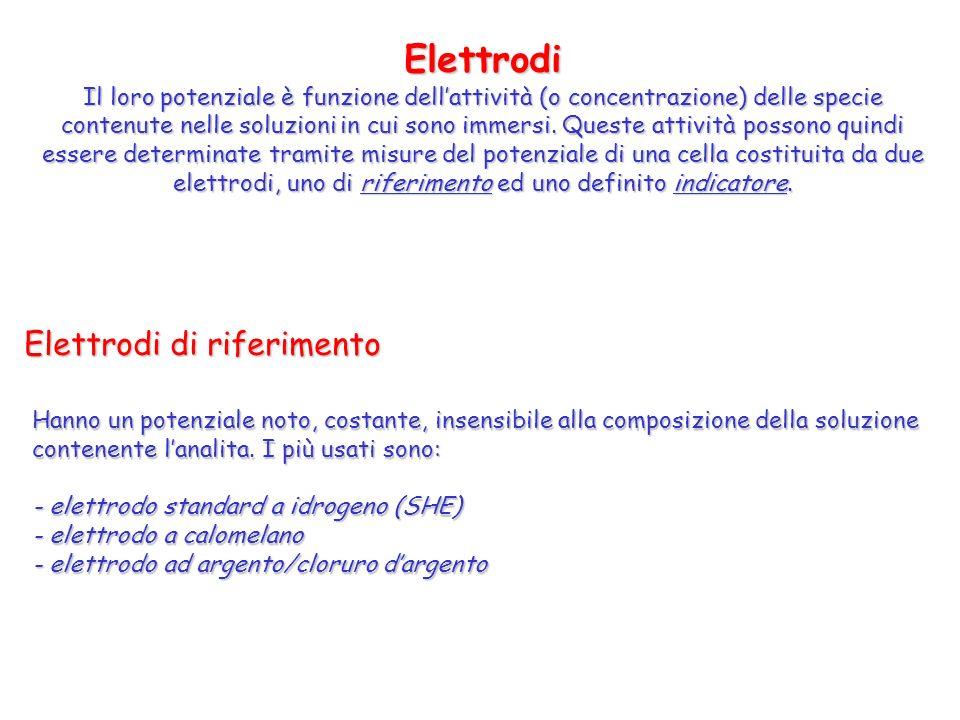 elettrodi, uno di riferimento ed uno definito indicatore.