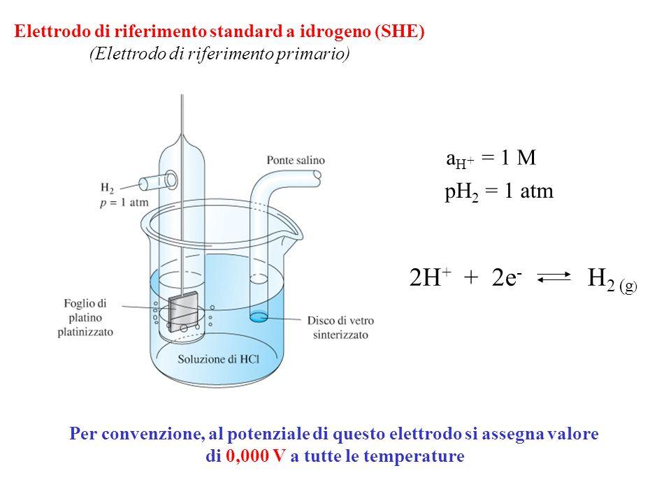 Elettrodo di riferimento standard a idrogeno (SHE)