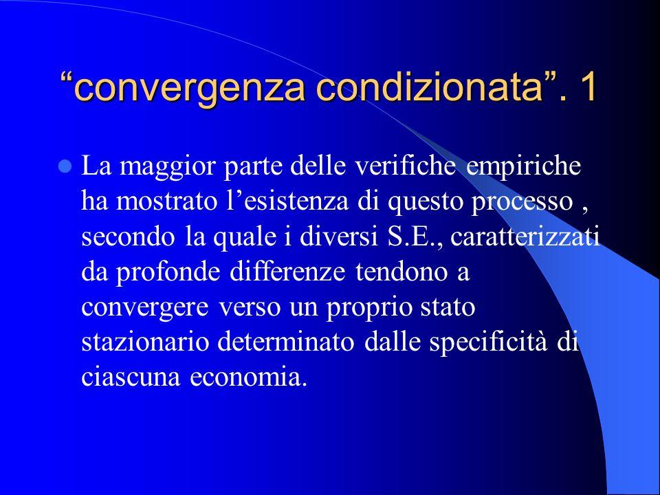 convergenza condizionata . 1