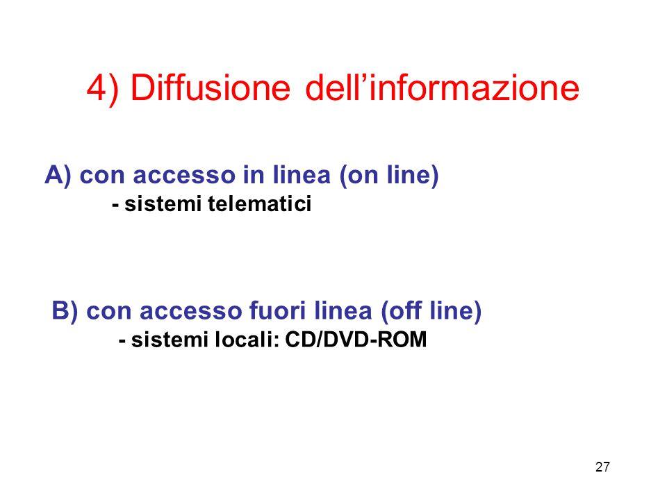 4) Diffusione dell'informazione