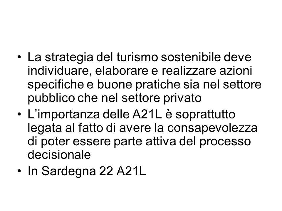 La strategia del turismo sostenibile deve individuare, elaborare e realizzare azioni specifiche e buone pratiche sia nel settore pubblico che nel settore privato