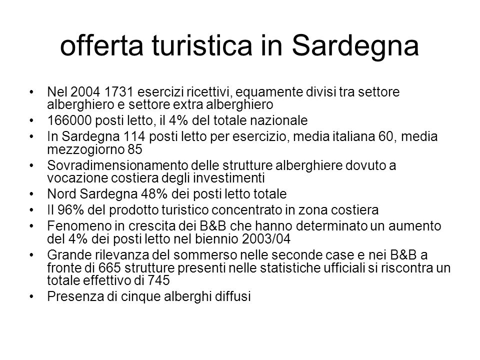 offerta turistica in Sardegna