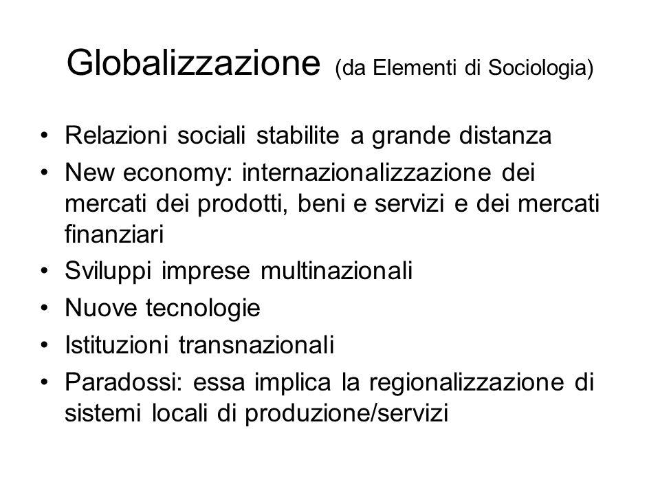 Globalizzazione (da Elementi di Sociologia)