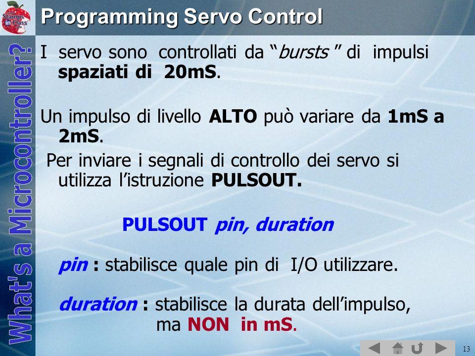 Programming Servo Control