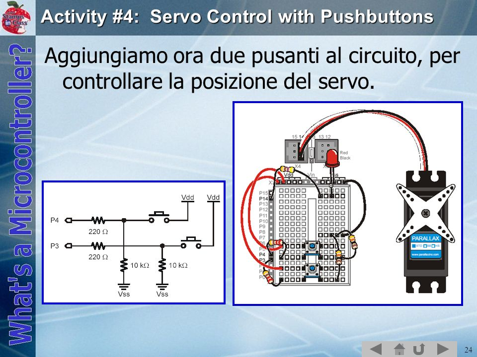 Activity #4: Servo Control with Pushbuttons