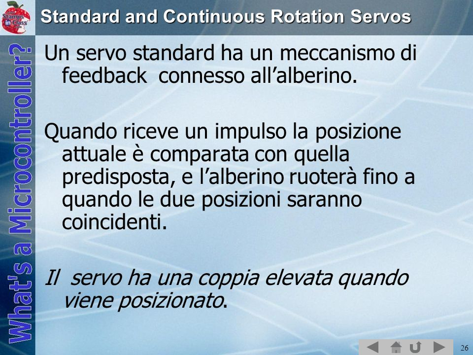 Standard and Continuous Rotation Servos