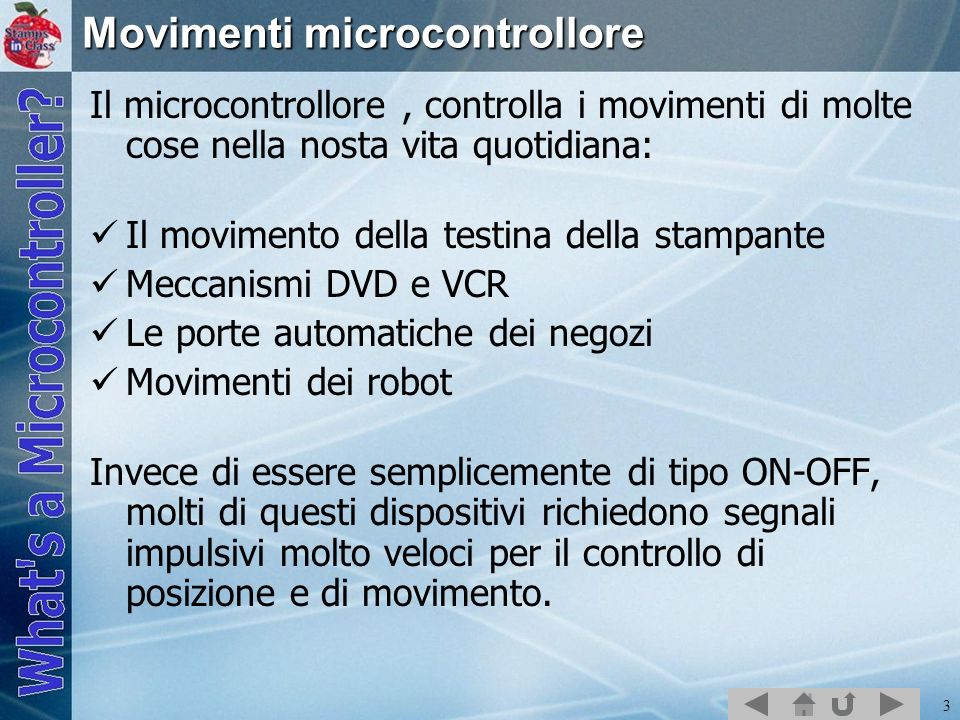 Movimenti microcontrollore