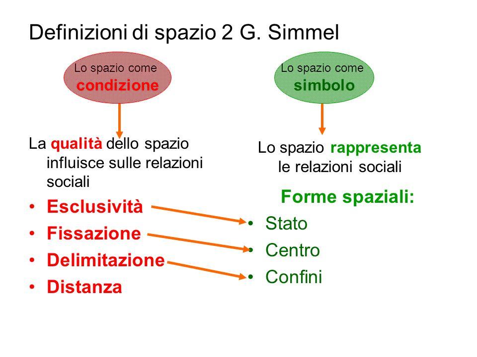 Definizioni di spazio 2 G. Simmel