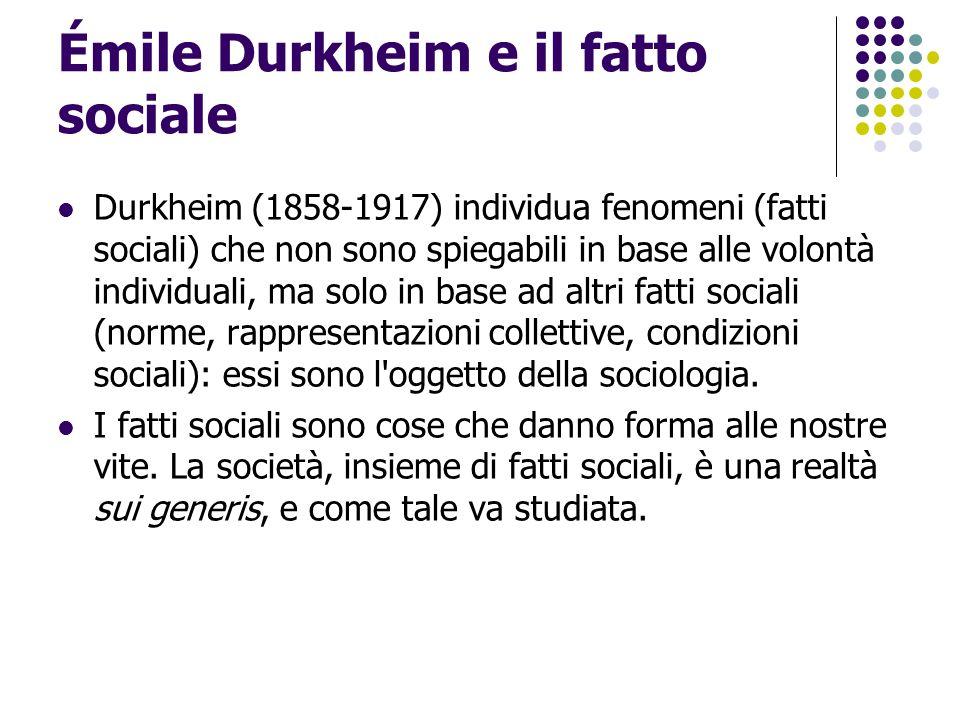 Émile Durkheim e il fatto sociale