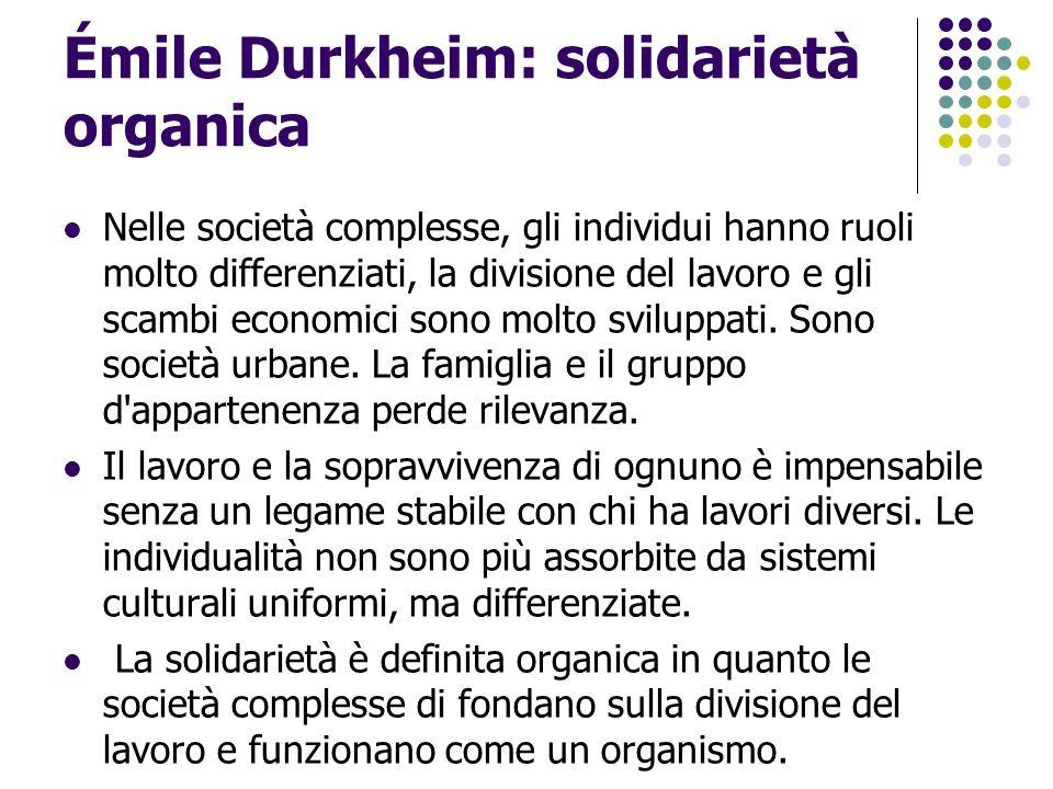 Émile Durkheim: solidarietà organica