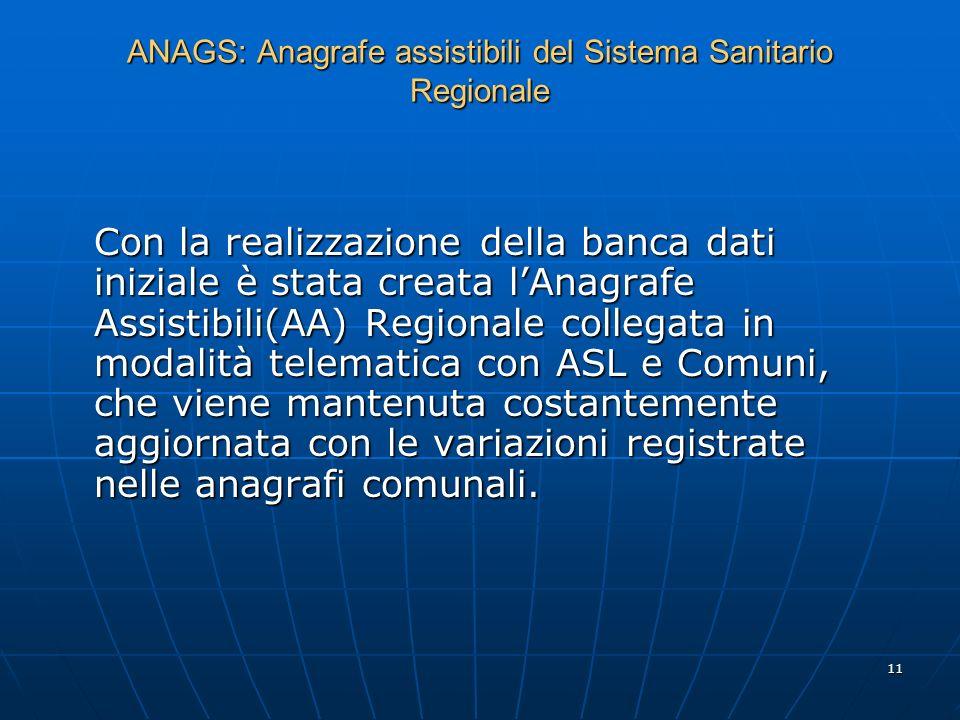 ANAGS: Anagrafe assistibili del Sistema Sanitario Regionale